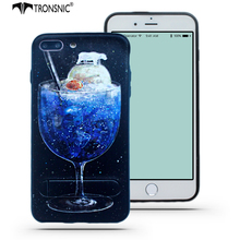 Tronsnic Stand Phone Case for iPhone 6 6s plus 7 7s plus Relief Silicone Polar Bear Animal Ice Stand Case Juicy Black Hard Cover