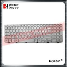Original Silver Color For DELL 15 7537 7000 P36F US Keyboard Layout With Backlit Backlight Replacement(China)
