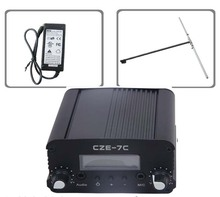 FMUSER CZH CZE-5C 7w 5W  FM stereo PLL broadcast transmitter hot sale 76-108MHZ+dp100 dipole FM antenna kit