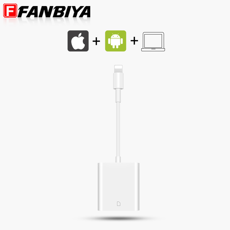FANBIYA SD Card Reader Adapter Cable Mini Camera Cables for iPad mini iPad Air iPad 4 iPhone 7 7Plus 6 6s 6plus (above ios 10.3)(China (Mainland))