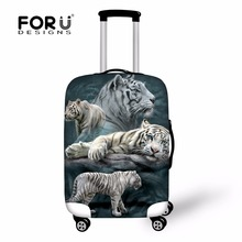 FORUDESIGNS 3D Animal Tiger Wolf Travel Suitcase Protective Covers Anti-dust Luggage Cover Apply to18-30 Inch Storage Bag Case