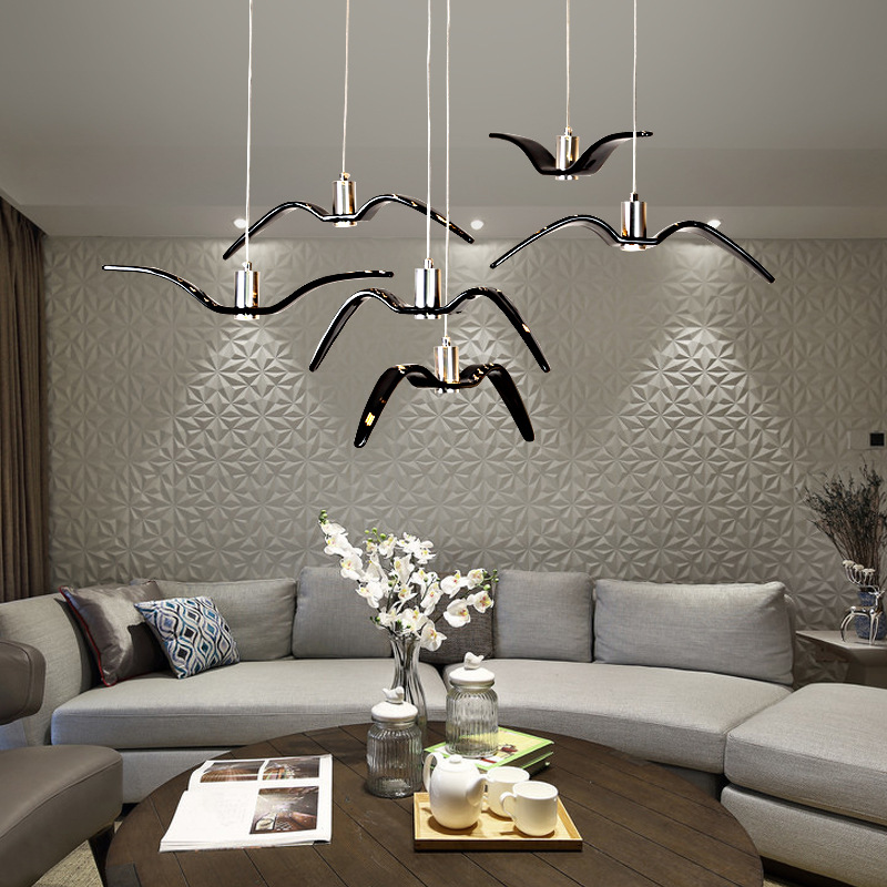Creative personality designer Bird Pendant Light Hotel Club bar Cafe restaurant clothing store lighting Seagull Pendant Lamp<br>