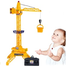 1:64 Electric remote control tower crane,cable channel 4 remote control Toys engineering crane Educational Toys For Children