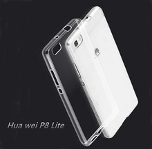 For Quality  Huawei P8 Lite Case Cover Ultrathin Transparent for Huawei P8 Lite Case Cell Phone Protective Bags Skin