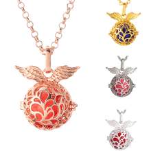 Pregnancy Necklace wish box Mexican Bola 16mm Harmony Ball fashion necklaces for women wings shape necklace women(China)
