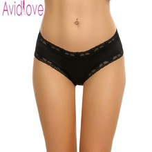Buy Avidlove Women Sexy Panties Knickers Bikini Lingerie Hollow Flower Lace Trim Thongs Panty Crotchless Panties Underwear Plus Size