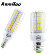 Fireproof Radiation Cover E27 E14 LED Lamp 220V Led Corn Bulb Light 24 - 108Leds New 5730 Chip lampada Le Light Chandelier