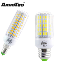 Fireproof Radiation Cover E27 E14 LED Lamp 220V Led Corn Bulb Light 24 - 108Leds New 5730 Chip lampada Le Light Chandelier(China)