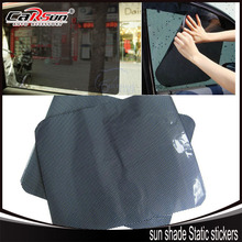 38*42cm  2 Tablets Air  Black Grid Car sun shade Static stickers Ultraviolet-proof Sunscreen Insulation Good light Transmission