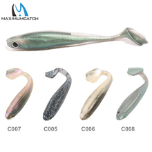 Maximumcatch 6Pcs/lot Soft Fishing Lures Minnow Bait 95mm 6g Jerkbait Soft Bait Paddle Tail Lures