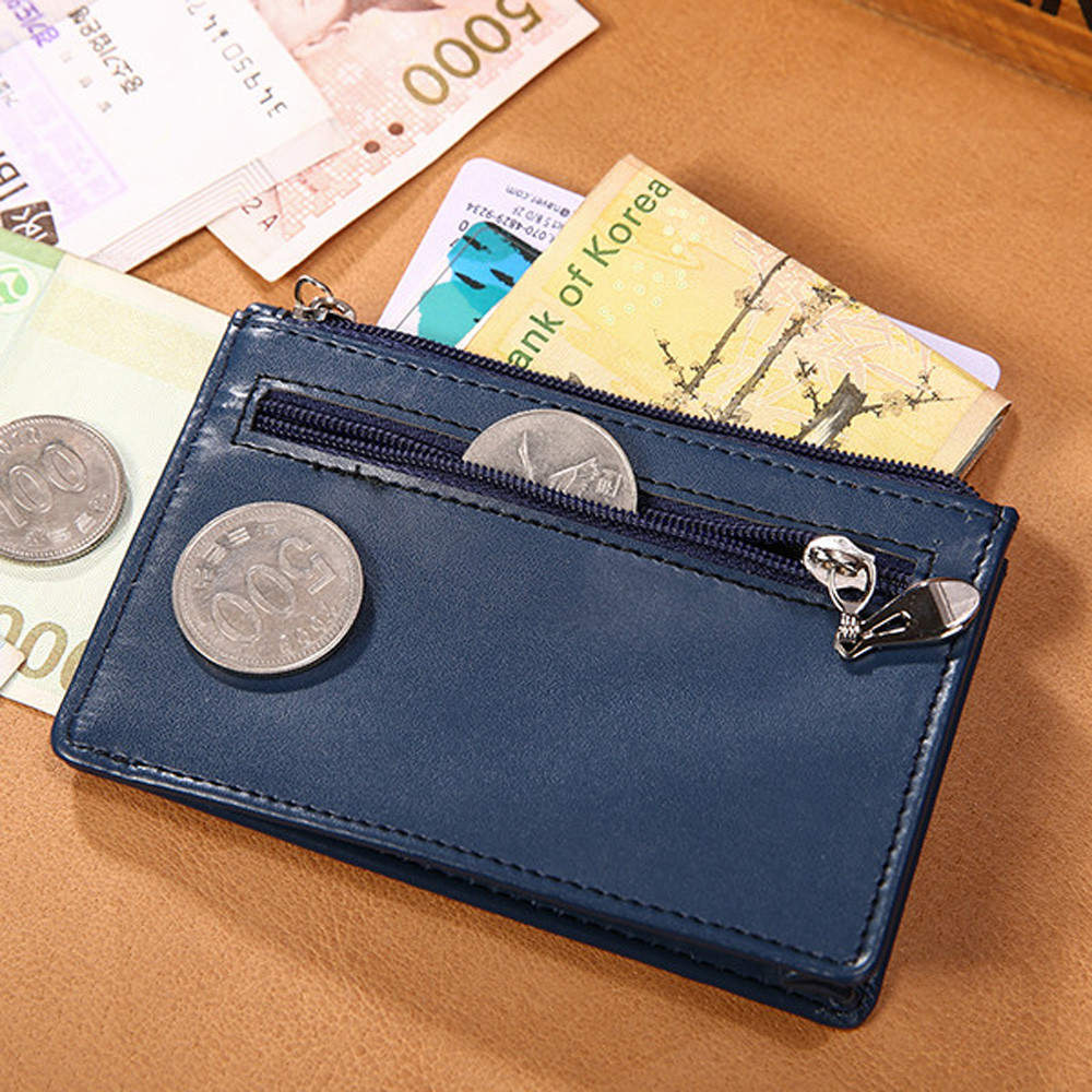 Thin Wallet Men Vintage Slim Mini Wallet Fashion Cow Long Leather ID Credit Card Case Male Coin Card Holder Gift Clutch Hot Sale(China)
