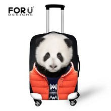 FORUDESIGNS Custom Elastic 18-30 inch luggage protector cover cute dog travel suitcase accessories luggage cover with zipper