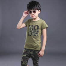 New 2017 Summer Childrens Clothing Set Kids Boys &Girls Clothes Sets Cotton T shirt+Half Pants 2 pieces Kids Casual Sport Suits