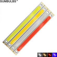 Sumbulbs 120x10MM 10W COB Light LED Strip Lamp 1000LM for Work Table Car Lights DIY Blue Red Warm Cold White 12CM LED Bar Bulb(China)