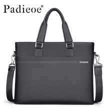 Padieoe Men's Genuine Leather Briefcase Famous Brand Business Cowhide Leather Men Messenger Bag Casual Handbags Shoulder Bags(China)