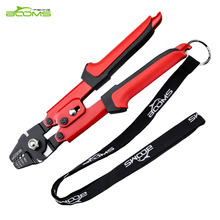 Booms Fishing Crimping Pliers Suitable For 0.1-2.2mm Sleeve With Side Cutters for Leader Line Cutting(China)
