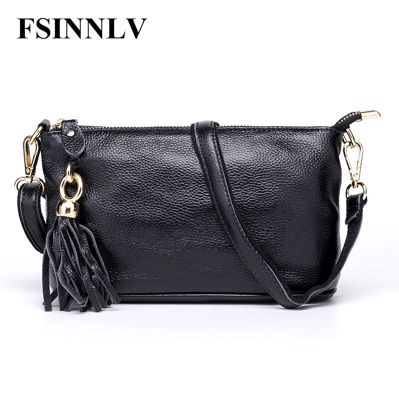 FSINNLV 2017 New Genuine Leather Women Bags Crossbody Bag High Quality 5 Colors Female Shoulder Bags Day Clutch Women Bags DC195<br>
