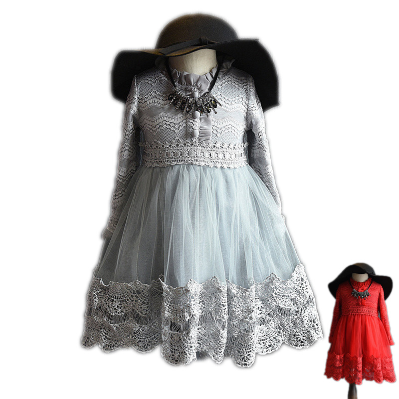 Summer Lace long sleeve Girls Dress Baby Girl Princess Dresses Fashion Party Chlidren Clothes New Years Gift Christmas Clothing<br><br>Aliexpress