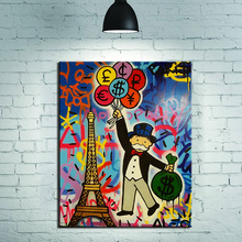 New Fashion travel Alec monopoly Graffiti arts print canvas for wall art  oil painting wall painting picture No framed