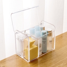Transparent multi - mouth lipstick cosmetic case plastic dresser jewelry box office desk debris storage box(China)
