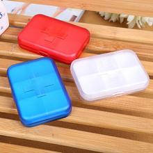 The 6 grid storage box plastic cute Storage portable portable rectangular kits Carry on mini cross medicine pill tablet box s2(China)