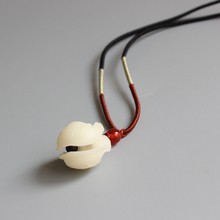 New Trend Bodhi Seed Carved Elegant Tinkle Bell Pendant Adjustable Rope Necklace Unisex Zen Amulet Jewelry Handmade Unique Gift(China)