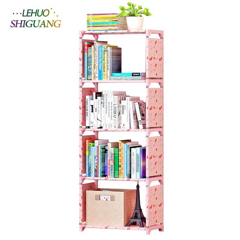 Simple bookshelf bookcase shelf racks creative combination of shelf floor childrens bookcase<br>