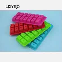 LIXYMO 4 colors 14holes/pc small size Ice Cube Tray Mold Maker/Party Kitchen DIY Ice Cream Mold Maker PP material