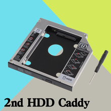 "12.7mm 2.5"" SATA TO SATA Aluminum 2nd Hard Disk Drive SSD HDD Caddy Adapter bay for ASUS N46 N50 N51 N52 N70 Series pc"