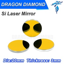 Si mirror Dia 20mm /Co2 Laser Machine spare parts mirror and lens  for CO2 Laser Mirror Mounts