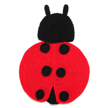 Large Beetles By Hand Knitting Infant Cute Wool Clothes One Hundred Days Baby Photography Props Wild Crochet Knitting Pictures