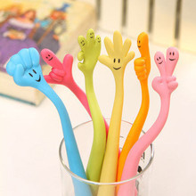 1pcs BZNVN LH01 South Korea stationery creative expression finger pen can be bending ball pen gestures can add logo(China)