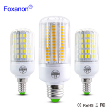 2017 New E27 E14 5730 SMD LED lamp 220V Corn Bulb Light 24 30 42 64 80 89 108Leds Radiation cover lampada Led Candle Lighting