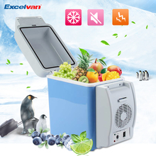 Excelvan Blue 7.5L Portable 12V Multi-Function Auto Car Refrigerator Mini Travel Fridge Quality ABS Home Cooler Freezer Warmer