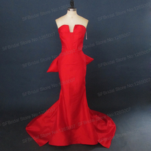 Real Photos Inspired By Sandra Bullock Evening Dresses Red Carpet Oscar Awards Dress Bow Back Mermaid Formal Gowns