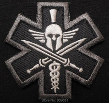SPARTAN MEDIC TACTICAL EMT EMS MILITARY COMBAT USA ARMY MORALE SWAT PATCH(China)