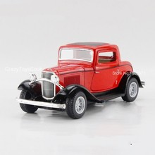 Freeshipping Children Kids Kinsmart 1932 Ford Model Car 1:34 KT5332 5inch Diecast Alloy Cars Toy Pull Back Doors Openable Gift