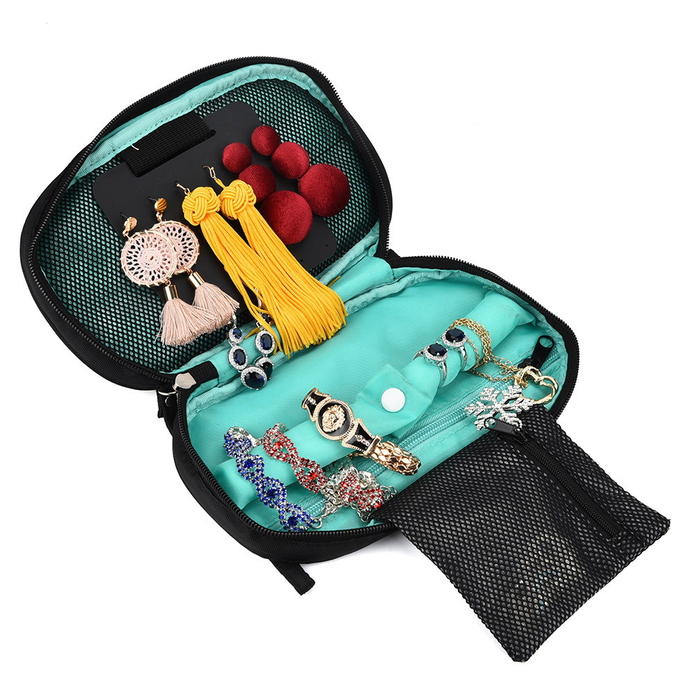 essential oil case bag Oxford Foldable Travel Jewelry Organizer