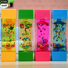 New Color into the oil small fish tank ornaments creative home desktop Timer Clock new strange small gifts wholesale Hourglass