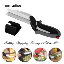 Homadise Kitchen Knives Accessories Clever Cutter Scissors Smart Chef Knife Stainless Steel Ourdoor High Quality Vegetable Knife(China)