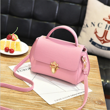PU LOCK CATCH finalize the design SHOULDER BAG - Women's 2017 Hot Stylish Fashion Casual Famous Brand Small  Handbag