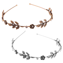 New 1PC Women Rhinestone Leaf Head Chain Headband Head Piece Hair Band Jewelry