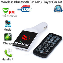 2016 Brand New Bluetooth Wireless FM Transmitter MP3 Player Handsfree Car Kit USB TF SD Remote Comfortable Natural
