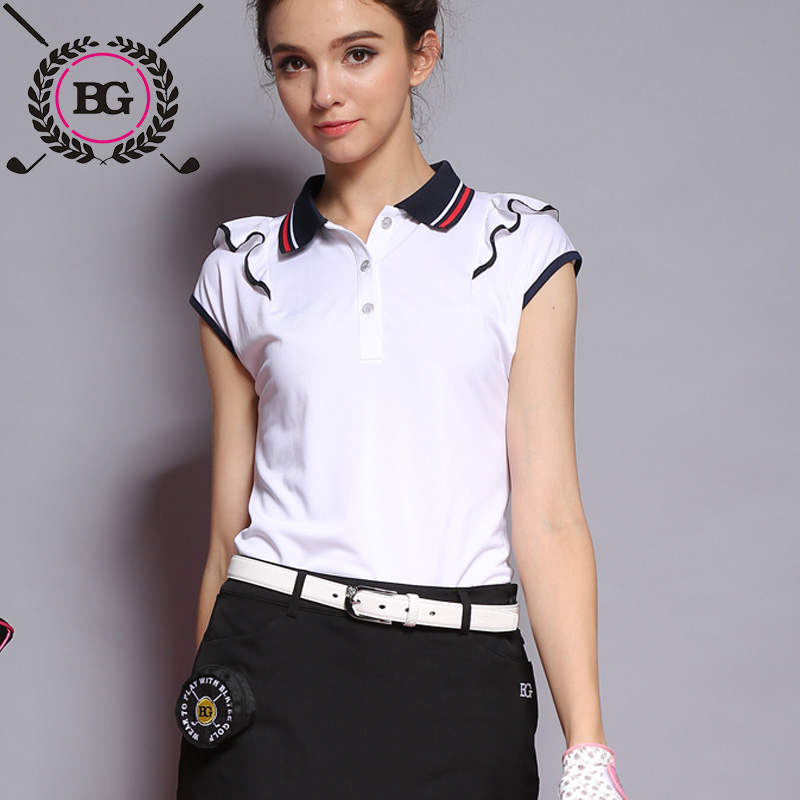 2016 New golf shirts 2016 Womens Short Sleeve T-Shirt Lady Quick Dry Breathable Running Jogging Fitness Workout Sports Shirt<br>