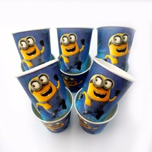 10pcs/lot minions Party Supplies Paper Cup Cartoon Birthday Decoration Baby Shower Theme Festival For Kids Girls Boys