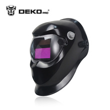 DEKOPRO New Black Solar Auto Darkening MIG MMA Electric Welding Mask Welding Helmet Welder Cap Welding Lens for Welding Machine(China)