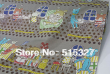50cm*110cm Japanese KOKKA DIY Quilting Cloth Patchwork Fabric Cotton Linen Fabric  Music Night    DimGrey
