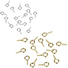 100pcs/lot New Beads Cheap Lovely Hot Sheep Eyes Nail Gold/Silver Color For Beaded pendant Jewelry Accessories Gift Wholesale(China)