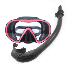 Diving mask and snorkel package colorful silicon dive mask and snorkel for adult top quality snorkel gears and diving equipments