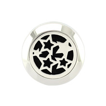 20mm Silver Ring Star Charm Aromatherapy / Essential Oils 316L S.Steel Perfume Diffuser Locket Ring Fashion 2017(China)